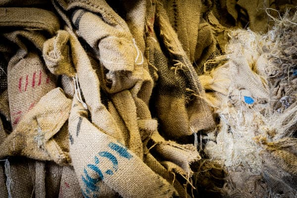 hessian sacks and recycled jute